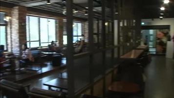 panorama de uma cafeteria video