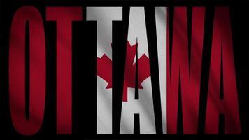 drapeau du canada avec masque ottawa video
