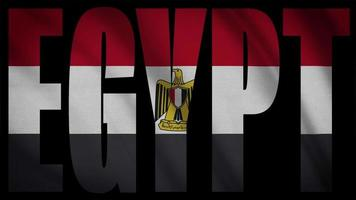 bandera de egipto con máscara de egipto