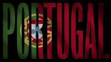 drapeau portugal avec masque portugal video