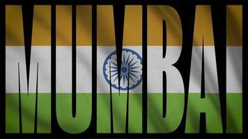 drapeau de l'Inde avec masque de Mumbai video