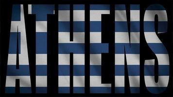 drapeau de la grèce avec masque athènes video