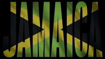 drapeau jamaïque avec masque jamaïque video