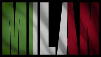 Italien Flagge mit Mailänder Maske