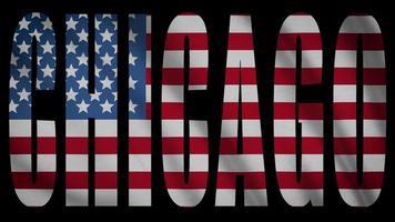 bandera de estados unidos con máscara de chicago