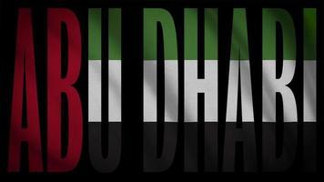bandeira dos emirados árabes unidos com máscara abu dhabi