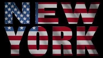 bandera de estados unidos con máscara de nueva york