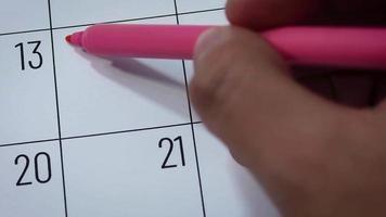 calendario del mes de febrero con te amo