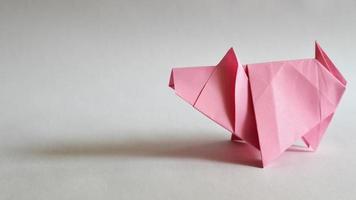 cerdo de origami