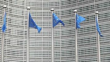 banderas de la unión europea video