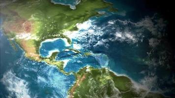 Visualização do mapa da Terra 4k por satélite video
