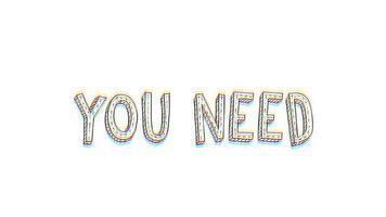 tout ce dont vous avez besoin est une carte postale animée d'amour avec effet de contraction