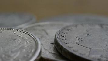 Imágenes de archivo giratorias tomadas de monedas americanas antiguas - dinero 0114