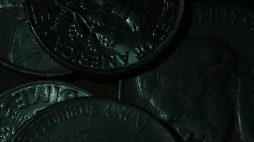 Imágenes de archivo giratorias tomadas de monedas monetarias estadounidenses - dinero 0307