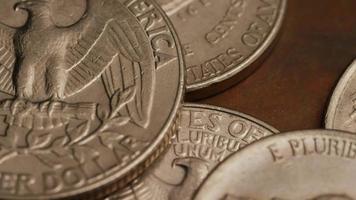 Imágenes de archivo giratorias tomadas de monedas monetarias americanas - dinero 0266