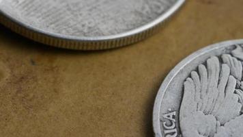 Imágenes de archivo giratorias tomadas de monedas americanas antiguas - dinero 0076