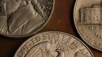 Imágenes de archivo giratorias tomadas de monedas monetarias estadounidenses - dinero 0257
