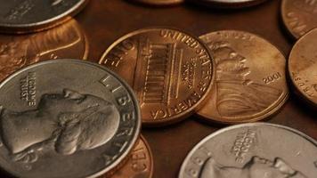 Imágenes de archivo giratorias tomadas de monedas monetarias estadounidenses - dinero 0271