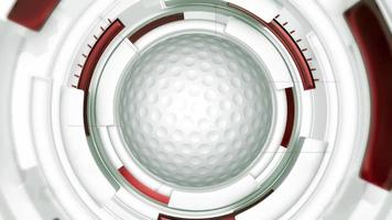 fundo de animação de bola de golfe video