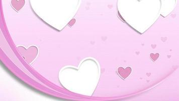 Valentine Postcard Background video