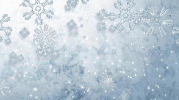 fundo de flocos de neve em câmera lenta