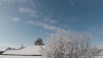 mouvement des nuages d'hiver