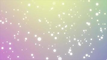 pastel regenboogkleuren achtergrond met kleine witte cirkels