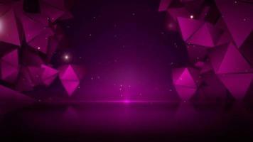 triangles étincelants abstraits