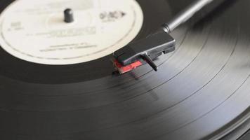 End of vinyl disc