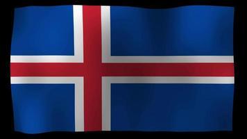 Islandia bandera 4k movimiento lazo stock video