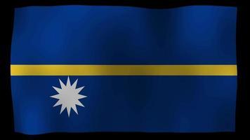 vídeo de stock de bucle de movimiento 4k de bandera de Nauru
