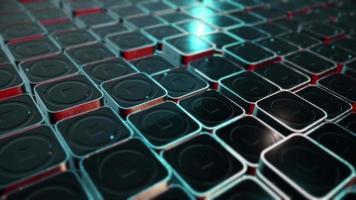 piastrelle metalliche mobili in 4k video
