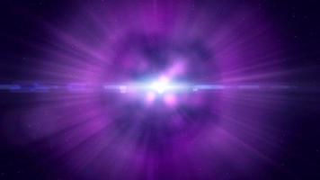 luce incandescente nell'animazione di sfondo movimento spazio esterno