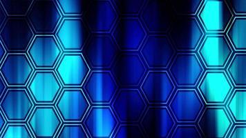blå sexkantigt 4k mönster går upp på blå bakgrund video