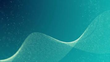 lazo de cinta ondulada con movimiento retorcido sobre fondo azul 4k video
