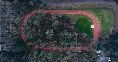 Oregon Nike Head Quarters Race Track 4k tir de drone aérien video