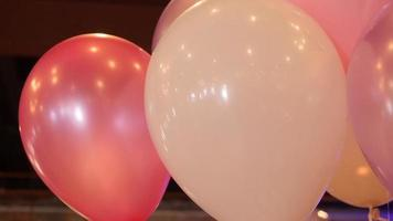 White and pink balloons for Valentine's Day Party | Free Stock Footage video