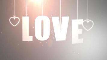 Cartas de amor colgando de una cuerda que cae del techo con fondo blanco. video