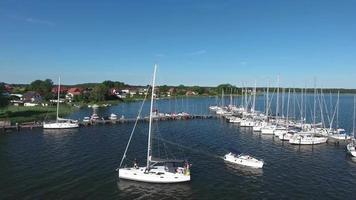 Port de breege sur l'île de ruegen en mer baltique