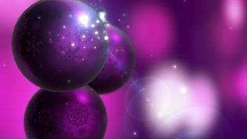 Weihnachts- und Neujahrsdekoration. abstrakter lila verschwommener Bokeh-Feiertagshintergrund. Weihnachtsbaum Lichter funkeln.