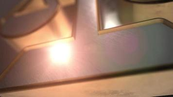 lawjer libra 3d icon symbol animation video