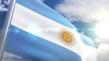agitando a bandeira da animação argentina