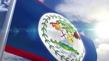 Ondeando la bandera de Belice animación video