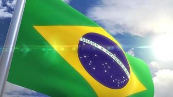 agitando bandeira do brasil animação