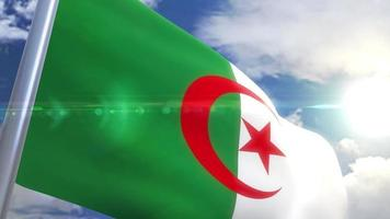 agitant le drapeau de l & # 39; algérie video