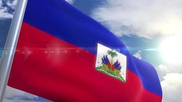 agitando bandeira do haiti animação