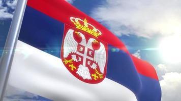 Ondeando la bandera de la animación de Serbia video