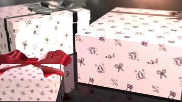 Weihnachtsgeburtstag weiße Geschenkanimation video