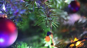 decoración navideña de cerca
