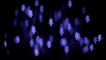 luces de bokeh de árbol púrpura